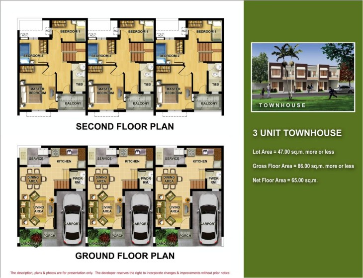 Plans angeles residences for Plans for townhouses